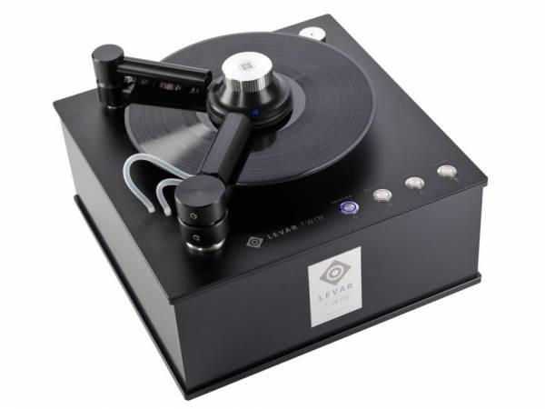 LEVAR TWIN Plattenwaschmaschine Record Cleaning Machine BUNDLE II inkl. Haube & 3 Reiniger Eau Levar