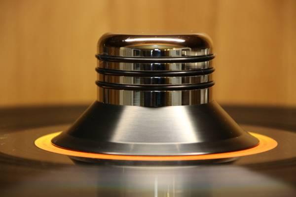 BUNDLE: Plattenteller-Auflage OYAIDE BR 12 incl. LEVAR Auflagegewicht Palladium
