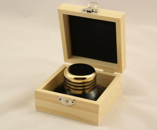 BUNDLE: Plattenteller-Auflage OYAIDE BR 12 incl. LEVAR Auflagegewicht Gold