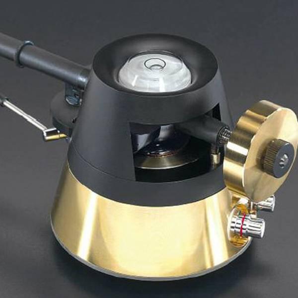 RIGID FLOAT VIV Aluminium-Tonarmrohr und Azimuthverstellung Gold 9 Zoll