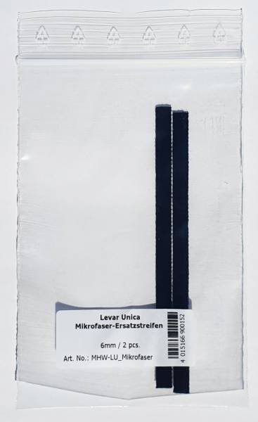 LEVAR UNICA Ersatz-Mikrofaserstreifen (2er Set)